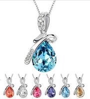 2014 Fashion Women Necklace Hot Selling Water Drop pendant necklace Elegant Women Jewelry