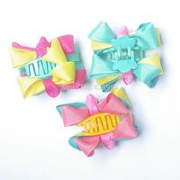 Hair Claw Clip Ribbon Bow Hairpins Children Headwear Hair Clip Girls Bows Accessories  15 pcs/lot