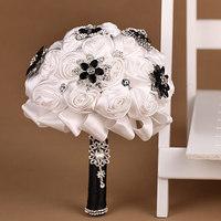 Bouquet of Bride Limited 2014 Cotton Wedding Bouquet Elegant Bride Holding Flowers Photo Shoot Props Boutonnieres And Corsages