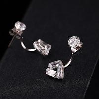 Exquisite Female Charming Fashion Tide models shiny Crystal Stud Earrings Stylish Jewelry Wholesale