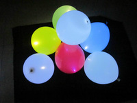 Free shipping 50pcs/lot 12 inches 5 colors mixed steady LED balloon light up balloon glow balloon for Wedding Decoration