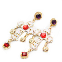 Canlyn Jewelry (2 pairs/lot) Fashion Jewelry Bohemian Style Crystal Stud Earrings for Women CE077