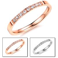 Accessories diamond finger ring fashion accessories exquisite titanium women's ring n412