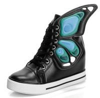 Hight Increasing Shoes For Women Four seasons flat heel personality sweet butterfly wings platform women's casual sports shoe