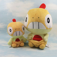 "2 Sizes/Set High Quality Janpanese Anime Pokemon Scraggy Soft Plush Toy Doll 14""+6"""