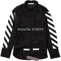 2014 new fashion pyrex 13 off white fashion shirts long-sleeve hip hop swag skateboard street shirt