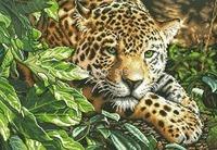 2014 Free shipping DIY Triple diamond painting diamond cross stitch kit Inlaid decorative painting Diamond embroidery Leopard