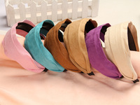 Womens Girls Wide Headband Retro Hair Band Solid Hairband Hair Accessories AK0008