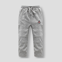 New Arrival Kids 2-10 years boys cotton embroidery Active Pants Sweatpants
