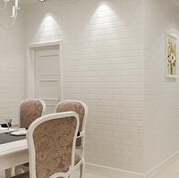 Bump-dimensional Chinese imitation brick pattern wallpaper Pure white clothing store decoration wallpaper living room wallpaper