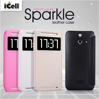 Original Nillkin Brand Sparkle Series Ultra Thin Flip Leather Case For HTC One E8 ,+Retail MOQ:1PCS free shipping