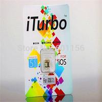 Wholesale - Original iTurbo sim card adapter for lphone ios 6.x-7.1-7.x lphone5 5C 5S iturbosim card for Verizon ATT T-mobile