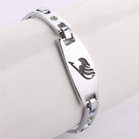 Wholesale Price! Fairy Tail Cartoon Silver Charm Bracelet Bangle, Fairy Tail Fans Fashion Accessories
