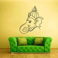 [B.Z.D] Free Shipping Home Decoration Vinayagar 11 Art Decals Home Decor Vinyl Wall Stickers for Bedroom,Sitting Room 56x64cm