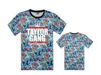 TAYLOR GANG  tee shirts galaxy short sleeve t-shirts TAYL OR GANG OR DIE o neck tees $$ men's t shirt  top quality size S-XXXL