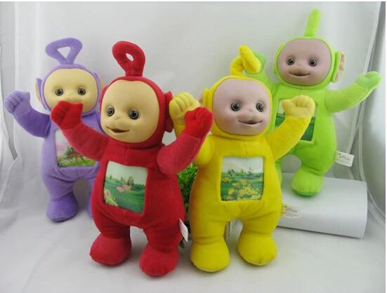 "4Pcs/Set Teletubby Plush Toy Doll Teletubbies 10"" Laa Tinky Winky Plush toy Free Shipping(China (Mainland))"