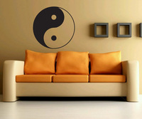 [B.Z.D] Free Shipping Home Decoration Ying Yang Art Decals Home Decor Vinyl Wall Stickers for Bedroom,Sitting Room 56x56cm