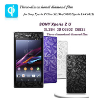 Three-dimensional diamond film Mobile Phone Screen Protectors Protective Cover Film For Sony Xperia Z Ultra XL39h (C6802/C6833)