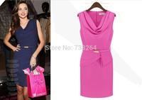 2014 Summer Fashion Sleeveless Dress Women's Pencil Dress business wear Women Casual Graceful  formal wear Dresses