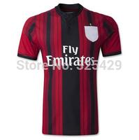 TOP Thai Quality AC Milan 14 15 Jersey KAKA Balotelli Shaarawy Robinho Abate Montolivo AC Milan 2015 Home/Away Jersey