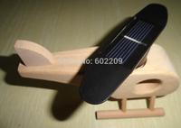 Solar Aircraft (Wood), Solar Toys,Minimum Quantity More than 100 pcs and free shippment