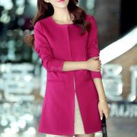 New Spring 2014 Women Plus Size Clothing Long Coat Jacket 4XL, 5XL, 6XL, 7XL