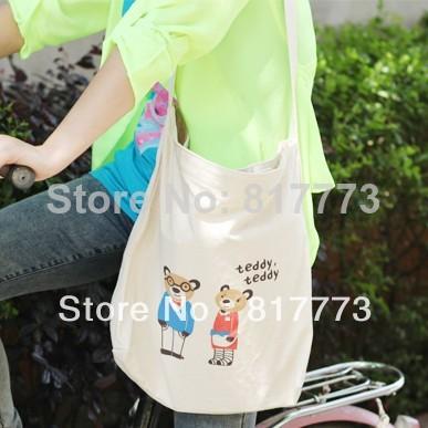 Fluid storage series eco-friendly shopping bag messenger bag handbag Signature Cotton bag(China (Mainland))