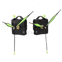 Quartz Clock Movement Mechanism Parts Tool Set w/ Luminous Hands