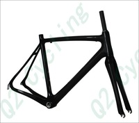 Q2 700C Carbon Road Racing Bike Frame + Fork Frames B111 External Cable Routing Weigh 980g