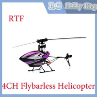 New Arrival WL Toy V944 2.4G 4CH RTF Flybarless Single Blade Mini Helicopter With LCD Original Box free shipping w radio control
