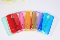 Back TPU Transparent Case Clear Protective Soft Cover For Samsung Galaxy S5 SV I9600