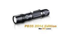 Free shipping Fenix PD35 (2014 Edition) Cree XM-L 2 (U2) LED 960 Lumens Flashlight uses one 18650 Battery High Power Torch