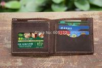 Billfold Driving License Slot Short Wallet Card Holder Men's Wallets Women's Purse -V014-1