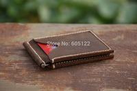 Handmade Money Clip Groomsmen's Gift Business Wallets Card holder Hand Stitched-V003-2