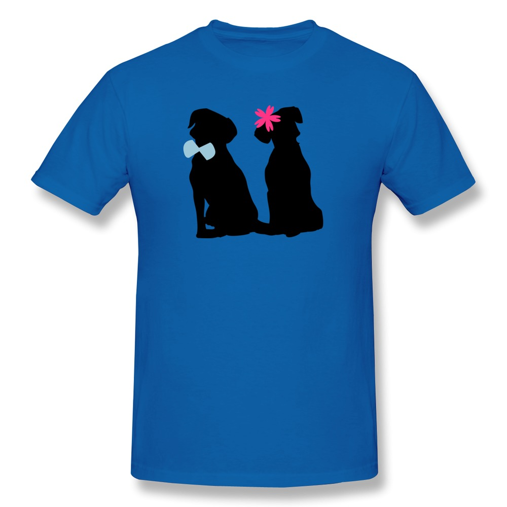 Make Own 100% Cotton T Shirt Mens dog couple Humor Single T Shirts Men Slim Fitted(China (Mainland))