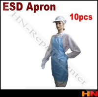 1pcs Guide anti-static apron Spot white/blue stripe clean dust-free apron clean apron not including Safety Gloves