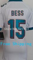 #15 Davone Bess Jersey,Women Football Jersey,Best quality,Rugby Bess Jersey,Size S--XXL,Accept Mix Order Jerseys Green White