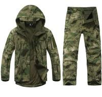 TAD V 4.0 Men Outdoor Hunting Waterproof Coats Jacket+pants combat uniform Hoodie Army Coat