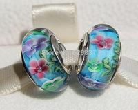 2pcs 925 Sterling Silver Secret Garden Murano Glass Beads Fit European  Jewelry Charm Bracelets & Necklace