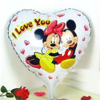 Aluminum 18 inch aluminum Mickey Mouse/Minnie balloon foil cartoon Wholesale Various WEDDING, Baby's Toy & Gift.