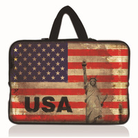 Hot USA Flag 15 15.4 15.5 15.6 Inch Laptop Sleeve Bag Case Notebook Handle Bag Netbook Inner Pouch Computer PC Drop Shipping