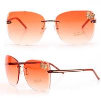 New Metal butterfly ornament frameless sunglasses fashion glasses