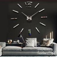 High Quality Big Size Luxury DIY 3D Wall Clock Digital Modern Mirror Sticker Wall Clock Best Gifts Home Decoration