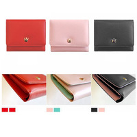New Fashion 2014 Girls Wallets Korean Crown Lovely Purse Concise Women Fold Mini Wallet For Students