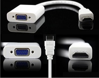 HDMI To VGA Cable,HDMI To VGA Adapter,HDMI To VGA Converter,PP Plastic Bag ,White Black Color