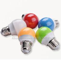 E27 3W 3 Watt  LED Bulb Shell Color White Red  Green Blue Orange LED Light Bulb Lamps Energy saving Bulbs AC 220V-240V