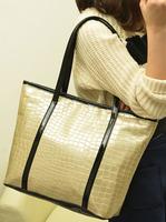 Casual fashion crocodile pattern big tote bag women designer brand high quality shoulder bag lady desigual shopping totes bag