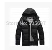 NEW 2014 winter down Brand Man's Outerwear Slim Hooded cotton Jacket Men Warm Coat Comfortable clothes parka k811 XL--6XL