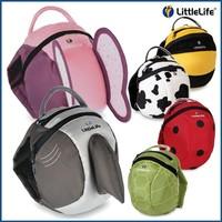 2014 HOT Children's Backpack/School Bags/Cartoon Animals Bun Outdoor Travel Bag/With Cap/Prevent Lost/Toddler/Belt Hat/7 Design