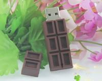 Hot+43 Cartoon USB flash drives Chocolate model pen drive Plastic memory Stick pendrive toy gift 8GB